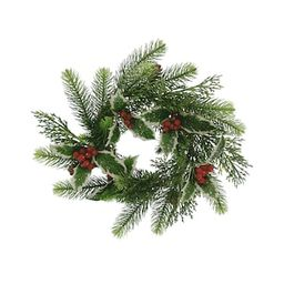 """14"""" Red Berry & Pine Leaf Sugared Christmas Mini Wreath by Ashland®   Michaels Stores"""