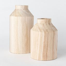 Decorative Wooden Vase Natural - Threshold™ designed with Studio McGee | Target