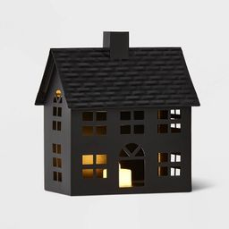 Metal House Decorative Figurine Black - Wondershop™ | Target