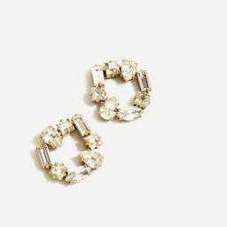 Crystal open circle earrings | J.Crew US