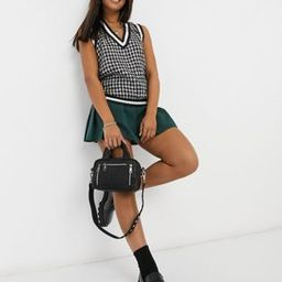 Pieces knitted vest in black houndstooth   ASOS (Global)