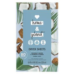 Love Home & Planet Coconut Water & Mimosa Flower Dryer Sheets - 80ct   Target
