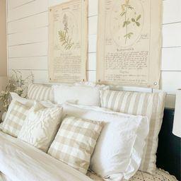Vintage Botanical Grommet Wall Canvases | Cloth + Cabin