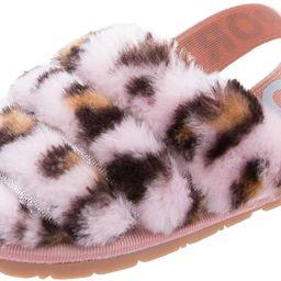 Toddler Boys Girls Fuzzy Slippers Kids Fluffy Slippers Sandals Tie Dye Leopard Print Faux Fur Sli... | Amazon (US)