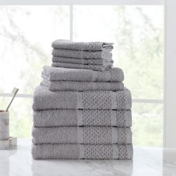 Mainstays Value 10-Piece Cotton Towel Set with Upgraded Softness & Durability, Grey | Walmart (US)