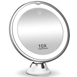 KOOLORBS 10X Magnifying Makeup Mirror with Lights, 3 Color Lighting, Intelligent Switch, 360 Degr... | Amazon (US)