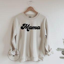 Mama Sweatshirt // Retro Mama Sweatshirt Groovy Mama | Etsy | Etsy (US)