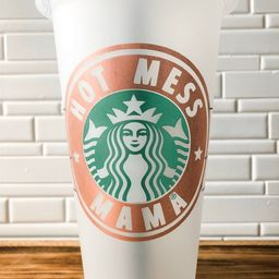 Hot Mess Mama Starbucks reusable cup | Personalized tumbler | Gift | Mom Gift| funny | Cold Cup |... | Etsy (US)