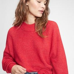 Womens / SweatersWaffle-Stitch Mockneck Sweater   Gap (CA)