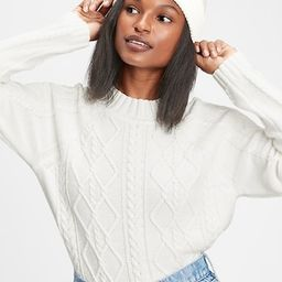 Womens / SweatersCable Knit Crewneck Sweater   Gap (CA)