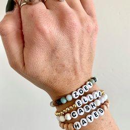 Personalized Beaded Name Bracelet  Word Bracelet  Initial | Etsy | Etsy (US)