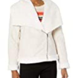 cupcakes and cashmere Junior's Dublin Faux Fur Lined Suede Moto Jacket, Soft Beige, Medium   Amazon (US)