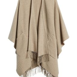 Wool-Blend Poncho with Pockets   Banana Republic (US)