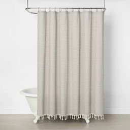 Railroad Stripe Shower Curtain - Hearth & Hand™ with Magnolia | Target