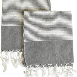 MyMesken- Cotton Turkish Hand Towels for Bathroom and Kitchen, Kitchen Towels- Bathroom Towels- G... | Amazon (US)