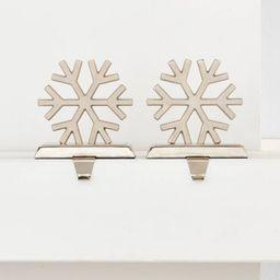 2pk Silver Metal Snowflake Christmas Stocking Holder - Wondershop™   Target