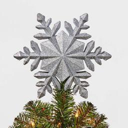 10in 4 Led Light Glitter Snowflake Silver - Wondershop™   Target