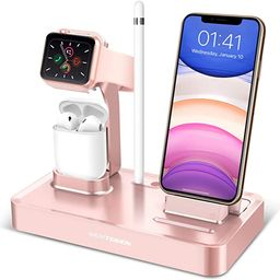 BENTOBEN 3 in 1 Charging Stand Compatible with Apple Watch Series 5/4/3/2/1, Charging Dock Statio... | Amazon (US)