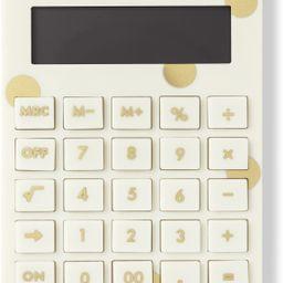 Kate Spade New York Standard Function Desktop Calculator, Acrylic Solar Powered Calculator, Gold ... | Amazon (US)