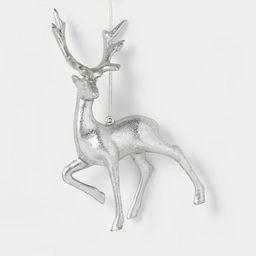 Metalized Reindeer Ornament Silver/Red/Navy - Wondershop™   Target