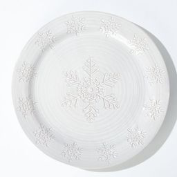 Holiday Snowflake Round Platter + Reviews | Crate and Barrel | Crate & Barrel