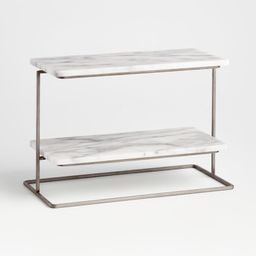 French Kitchen Marble 2-Tier Server + Reviews | Crate and Barrel | Crate & Barrel
