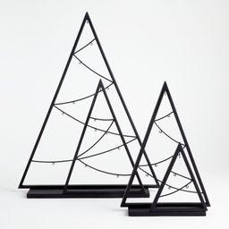 Zinc Double A-Frame Ornament Trees | Crate and Barrel | Crate & Barrel
