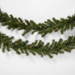 9' Pre-lit Artificial Pine Christmas Garland Clear Lights - Wondershop™   Target