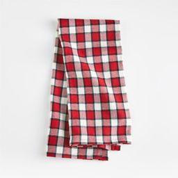 Holiday Check Dish Towel | Crate and Barrel | Crate & Barrel