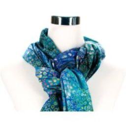Batik Fabric Scarf - Island Blue Scarves Rayon Wide Long Purple Modern | Etsy (US)