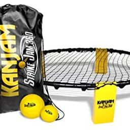 Kan Jam Strike Jam 360 Roundnet Outdoor Ball Spike Game Set; Fun Backyard Game or Portable Beach ... | Amazon (US)