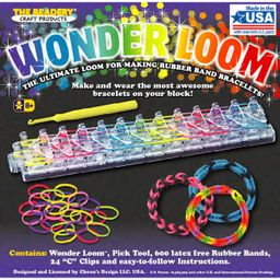The Beadery Wonder Loom Kit, Gift for Kids, Includes 600 Rubber Bands | Walmart (US)