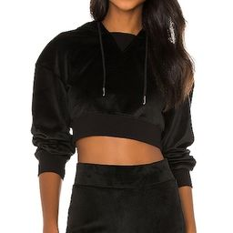 NBD Crop Hoodie in Black. - size L (also in XXS, XS, S, M, XL) | Revolve Clothing (Global)