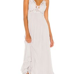 Free People Adella Maxi Slip Dress in Light Grey. - size M (also in XS, S, L) | Revolve Clothing (Global)