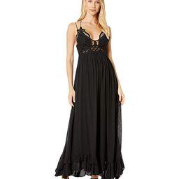 Free People Adella Maxi Slip (Black) Women's Clothing | Zappos