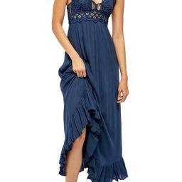 Women's Free People Adella Maxi Slipdress, Size X-Small - Blue | Nordstrom