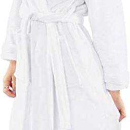 NY Threads Womens Fleece Bathrobe - Shawl Collar Soft Plush Robe Spa Robe | Amazon (US)