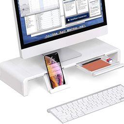 Foldable Monitor Stand Riser, Computer Laptop Riser Shelf with Organizer Drawer, Adjustable Lengt...   Amazon (US)