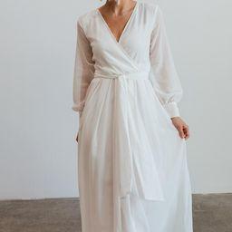 Lydia Off-White Maxi Dress   Baltic Born