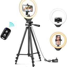10'' Ring Light with 50'' Extendable Tripod Stand, Sensyne LED Circle Lights with Phone Holder fo...   Amazon (US)