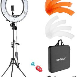 """Neewer Ring Light Kit:18""""/48cm Outer 55W 5500K Dimmable LED Ring Light, Light Stand, Carrying Bag...   Amazon (US)"""