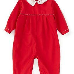 Baby 3-24 Months Long-Sleeve Santa Collar Coverall | Dillards