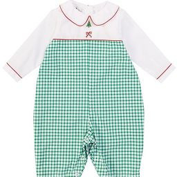 Baby 3-24 Months Long-Sleeve Holiday Embroidered Checked Print Coverall | Dillards
