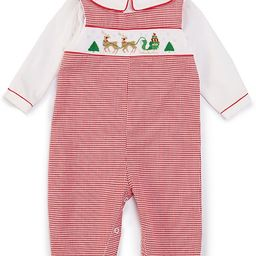 Baby 3-24 Months Long-Sleeve Reindeer Smocked Gingham Print Coverall | Dillards