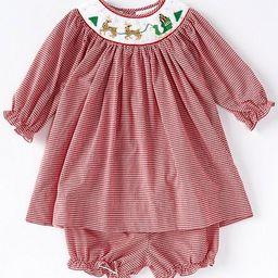 Baby Girls 3-24 Months Embroidered-Reindeer Gingham A-Line Dress | Dillards