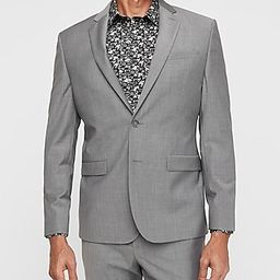 Slim Gray Wool-Blend Performance Stretch Suit Jacket   Express