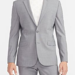 Extra Slim Solid Gray Modern Tech Suit Jacket   Express