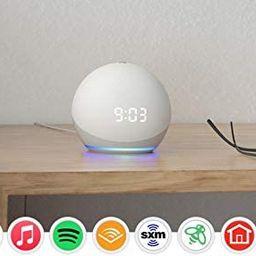 All-new Echo Dot (4th Gen)   Smart speaker with clock and Alexa   Glacier White   Amazon (US)