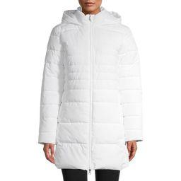 Swiss Tech Women's Mid-Length Puffer Jacket with Hood   Walmart (US)