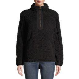 Time and Tru Women's Quarter Zip Sherpa Pullover | Walmart (US)